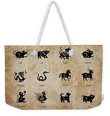 Chinese Zodiac Weekender Tote Bag