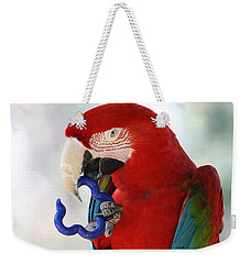 Weekender Tote Bag featuring the photograph Chip by Judy Whitton