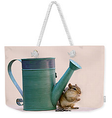 Chipmunk And Watering Can Weekender Tote Bag