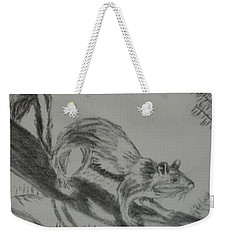 Chipmunk On The Prowl Weekender Tote Bag