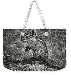 Chipmunk On The Rocks Weekender Tote Bag by Sandra LaFaut