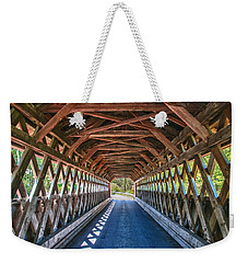 Chiselville Bridge Weekender Tote Bag by Guy Whiteley