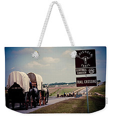 Chisholm Trail Centennial Cattle Drive Weekender Tote Bag by Toni Hopper