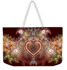 Chocolate Heart Weekender Tote Bag