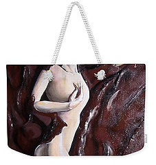 Weekender Tote Bag featuring the mixed media Chocolate Omega by Peter Suhocke
