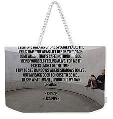 Choice Weekender Tote Bag