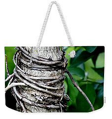 Weekender Tote Bag featuring the photograph Choke by Lilliana Mendez