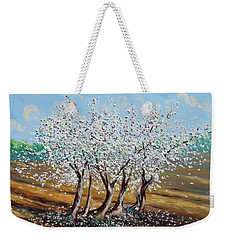 Weekender Tote Bag featuring the painting Chosen by Meaghan Troup