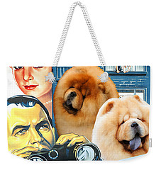 Chow Chow Art Canvas Print - Rear Window Movie Poster Weekender Tote Bag