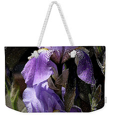 Chris' Garden - Iris 4 Weekender Tote Bag by Stuart Turnbull