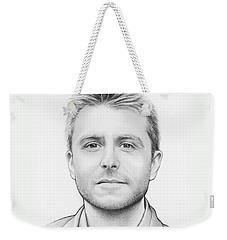Chris Hardwick Weekender Tote Bag by Olga Shvartsur
