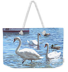 Christchurch Harbour Swans And Boats Weekender Tote Bag