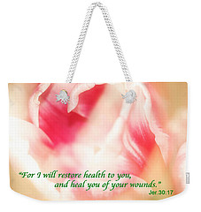 I Will Restore Health To You  Weekender Tote Bag