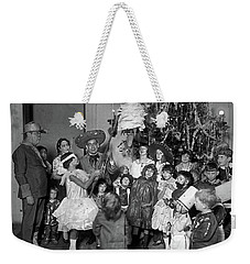 Weekender Tote Bag featuring the photograph Christmas, 1925 by Granger