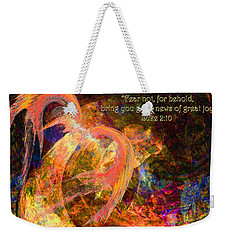 Christmas Angel Weekender Tote Bag