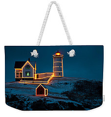 Christmas At Nubble Light Weekender Tote Bag