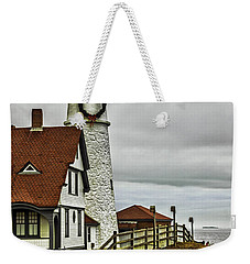 Christmas At Portland Head Light Weekender Tote Bag
