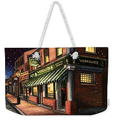 Christmas At Virgilios Weekender Tote Bag by Eileen Patten Oliver
