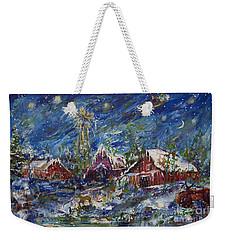 Christmas Weekender Tote Bag by Avonelle Kelsey