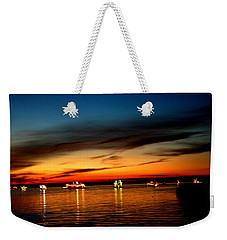 Christmas Boat Parade - Delta Loop Weekender Tote Bag