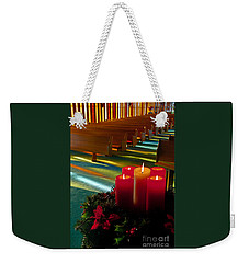 Christmas Candles At Church Art Prints Weekender Tote Bag
