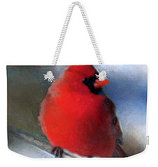 Christmas Card - Cardinal Weekender Tote Bag