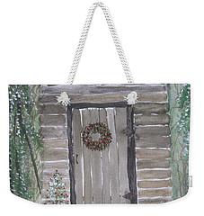 Christmas Card No.3 Rustic Cabin Weekender Tote Bag