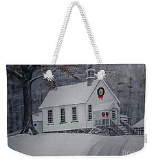 Christmas Card - Snow - Gates Chapel Weekender Tote Bag