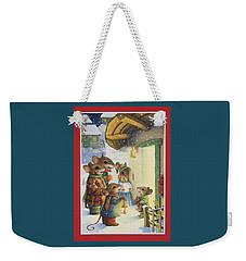 Christmas Carols Weekender Tote Bag