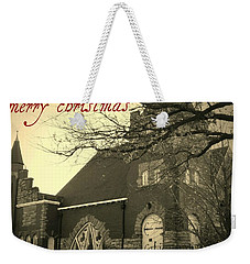 Christmas Chapel Weekender Tote Bag