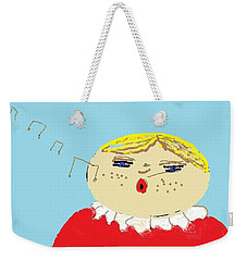Weekender Tote Bag featuring the digital art Christmas Choir by Tracey Williams