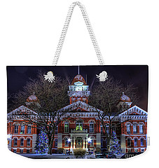 Christmas Courthouse Weekender Tote Bag