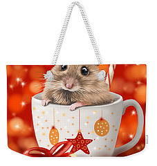 Christmas Cup Weekender Tote Bag by Veronica Minozzi