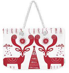Christmas Deers Weekender Tote Bag by Susan Claire