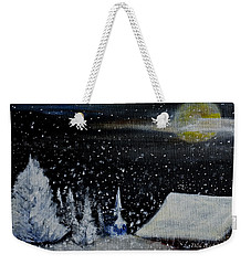 Christmas Eve Weekender Tote Bag by Dick Bourgault