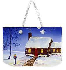 Weekender Tote Bag featuring the painting Christmas Eve by Lee Piper