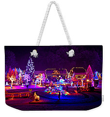 Christmas Fantasy Trees And Houses In Lights Weekender Tote Bag