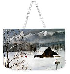 Christmas Farm House Weekender Tote Bag