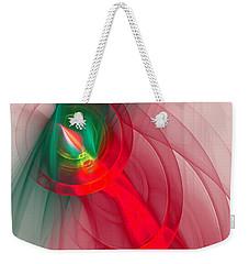 Christmas Flame Weekender Tote Bag by Victoria Harrington