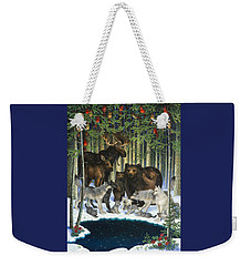 Christmas Gathering Weekender Tote Bag