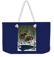 Christmas Gathering Weekender Tote Bag
