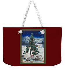 Christmas Geese Weekender Tote Bag
