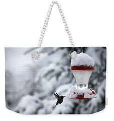 Christmas Hummingbird Weekender Tote Bag by Katie Wing Vigil