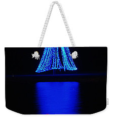 Christmas In Blue Weekender Tote Bag