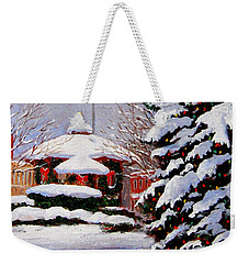 Christmas In Chagrin Falls Weekender Tote Bag