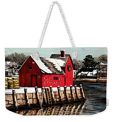 Christmas In Rockport Weekender Tote Bag by Eileen Patten Oliver