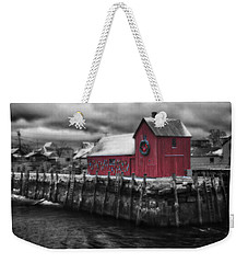 Christmas In Rockport New England Weekender Tote Bag by Jeff Folger