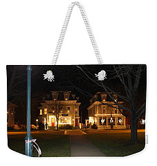 Christmas In Town Weekender Tote Bag by Catie Canetti