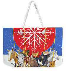 Christmas Journey Oil On Canvas Weekender Tote Bag by Pat Scott