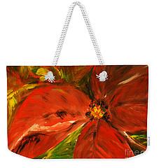 Christmas Star Weekender Tote Bag by Jasna Dragun